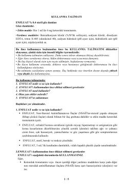 1 / 5 KULLANMA TALĐMATI ENFLUAT % 0.4 steril göz