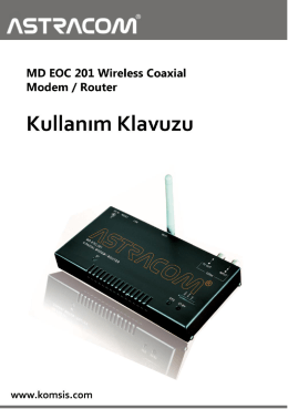Wireless Coaxial Modem / Router