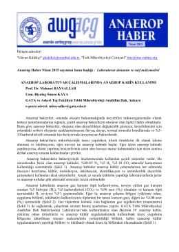 Anaerop Haber Nisan 2015 - Türk Mikrobiyoloji Cemiyeti