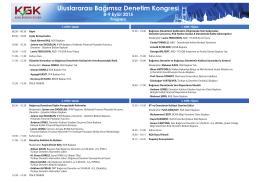 ist program yatay - tr.indd - Bağımsız Denetim Uzmanları Derneği