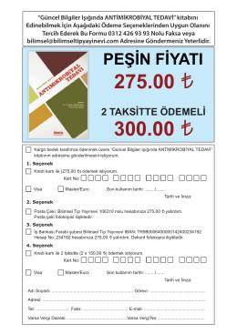 """""""Güncel Bilgiler Işığında ANTİMİKROBİYAL TEDAVİ"""" kitabını"""