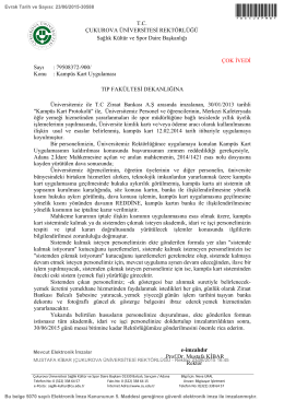 Kampüs Kart Uygulaması - Çukurova Üniversitesi Tıp Fakültesi
