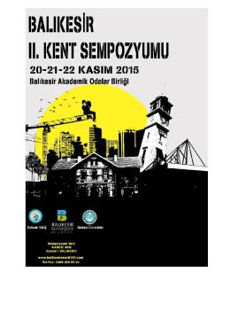 Sempozyum Programı - Balıkesir Kent Sempozyumu 2015
