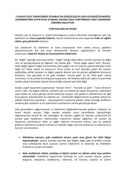 7-8 mayıs 2015 tarihlerinde istanbul`da gerçekleşecek gıda