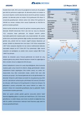 (KRDMD) Fiyat Revizyonu Raporu