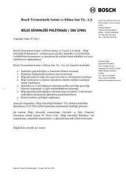 Bosch Termoteknik Isıtma ve Klima San Tic. A.Ş