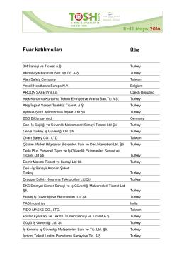 Katılımcı listesi 2016