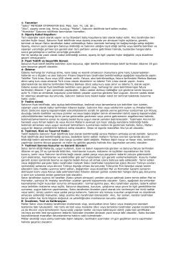 Genel Satış Şartları - Meteser Otomasyon End. Malz. San.Tic. Ltd.Şti.