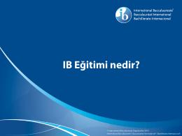 IB Eğitimi nedir?