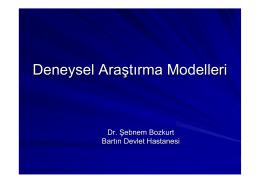 Deneysel Araştırma Modelleri