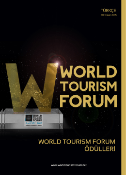 wtf awards tr - World Tourism Forum