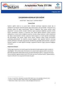 ArastirmaNotu186 - Betam - Bahçeşehir Üniversitesi