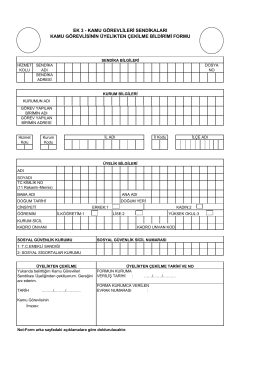 İstifa Formu - Demokratik Sağlık Sen