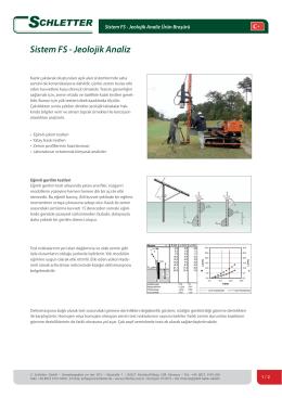 Sistem FS - Jeolojik Analiz