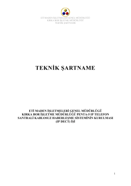 TEKNİK ŞARTNAME