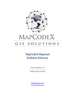 MapCodeX MapLand Kullanım Kılavuzu