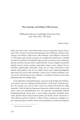 War, Strategy, and Military Effectiveness Williamson Murray