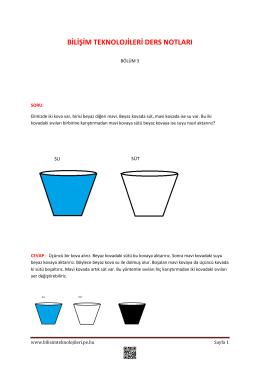 Ders Notları 3.Bölüm - Bilişim Teknolojileri
