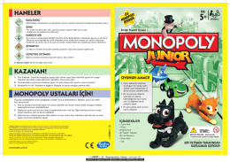Monopoly Junior Instructions