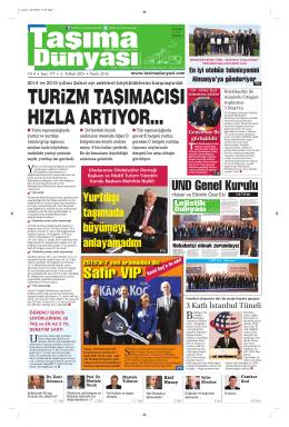 Taşıma Dünyası Gazetesi-177 PDF 2 Mart 2015 tarihli sayısını