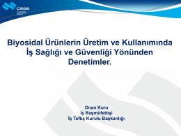 Emin Onan KURU - uluslararası katılımlı 2. ulusal biyosidal kongresi