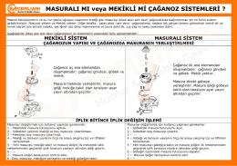 Masurali mi veya mekikli mi çağanoz sistemleri