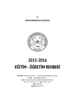 2015-2016 - Erciyes Üniversitesi Tıp Fakültesi