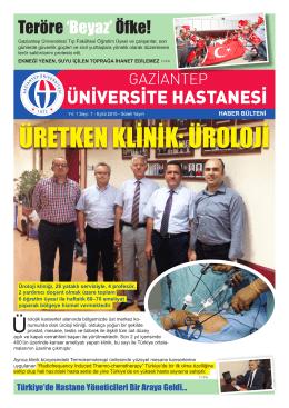 7. Sayı - Gaziantep Üniversitesi Hastaneleri