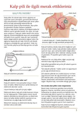 Kalp pili olan hastaların bilmesi gerekenler