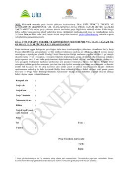 VIII. Uluslararası Ar-Ge Proje Pazarı Zirvesi Katılım Şartnamesi