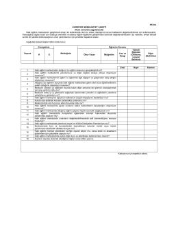 kursiyer memnuniyet anketi - MUĞLA - ORTACA