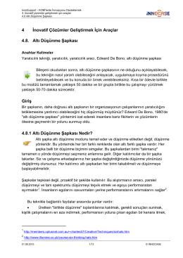 4 İnovatif Çözümler Geliştirmek İçin Araçlar 4.8. Altı