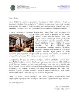 buraya - Türk Kültürünü Araştırma Enstitüsü