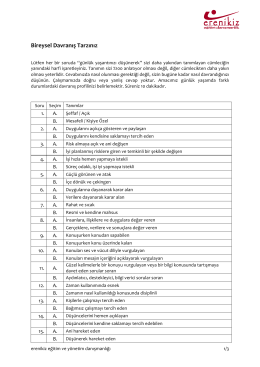 Bireysel Davranış Tarzı Anketi - ITU AVIATION INSTITUTE Main Page
