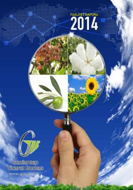 2015 Yılı Faaliyet Raporu - Gaziantep Ticaret Borsası