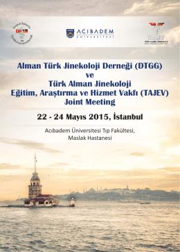 JOINT MEETING - Tajev - Türk Alman Jinekoloji Eğitim, Araştırma ve