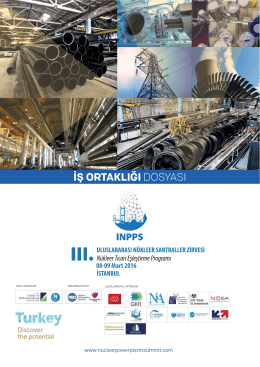 iş ortaklığı dosyası - III. International Nuclear Power Plants Summit