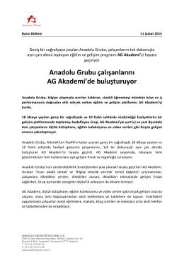 Anadolu Grubu çalışanlarını AG Akademi`de buluşturuyor