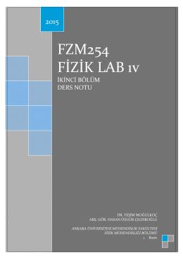 FZM254_FOY - Ankara Üniversitesi Fizik Mühendisliği Bölümü