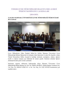 ÇMO İstanbul Öğrenci Komisyonu Çalışma Raporu