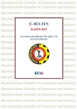 E- BÜLTEN - Afyonkarahisar Ticaret ve Sanayi Odası