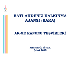 ar-ge kanunu teşvikleri (şubat 2015)
