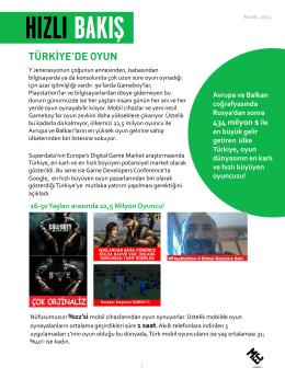 Türkiye`de Oyun Pazarına Hızlı Bakış