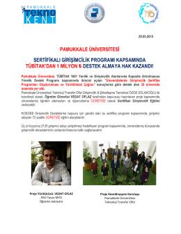pamukkale üniversitesi sertifikalı girişimcilik programı kapsamında