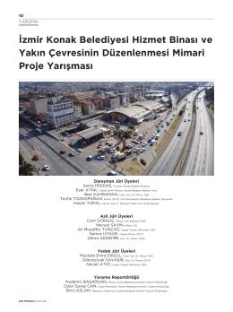 İzmir Konak Belediyesi Hizmet Binası ve Yakın Çevresinin