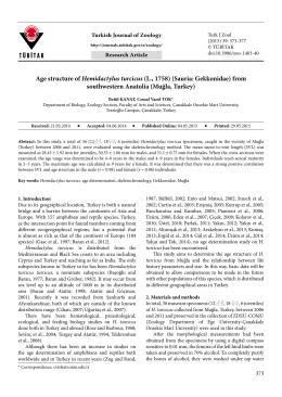 Age structure of Hemidactylus turcicus (L., 1758) (Sauria: Gekkonidae)