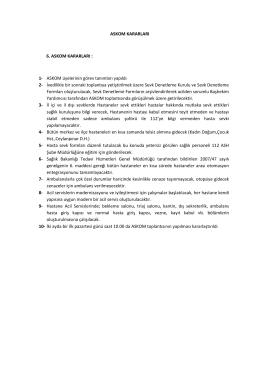 6. askom kararları