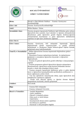 Erasmus Komisyonu / Koord - İktisadi ve İdari Bilimler