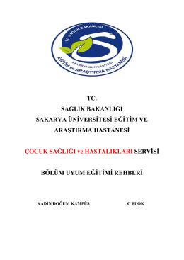 Çocuk Sağlığı ve Hastalıkları - Sakarya Eğitim ve Araştırma Hastanesi
