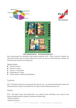 bina otomasyonu knx / eıb eğitim seti ile ilgili döküman - DAC